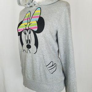 Disney Tops - Disney Minnie Mouse Neon Rainbow Hoodie